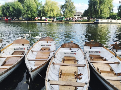 Boats on the River Avon Named After the Men of Shakespeare