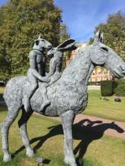 'Lovers on Horseback' Sculpture in Governor's Square by American Embassy