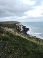 View of the Chalk Cliffs in Dover